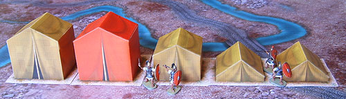 Roman Camp. Paper scenery models.