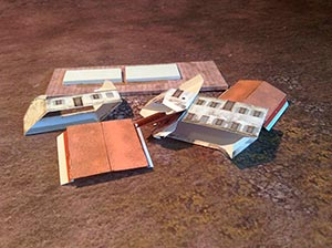 Paper model set: Waterloo Style Buildings. Foldable Paper Scenery System. 6mm (1:285) scale