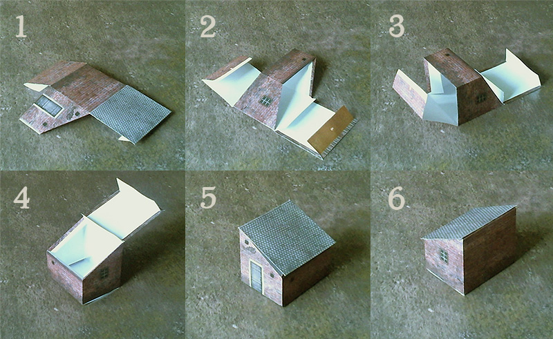 Paper model set: Waterloo Style Buildings. Foldable Paper Scenery System. 28 mm, 1/72, 15 mm, 10mm scale