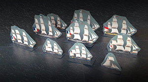 Your Fleet 1775-1815. A sail warships's double-sided flat ounters collection