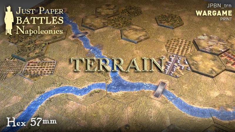 Just Paper Battles Napoleonics - Terrain - Hex 57mm
